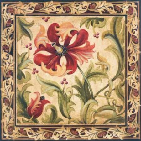 Floral Daydream III Rolled Canvas Art - Liz Jardine (12 x 12)