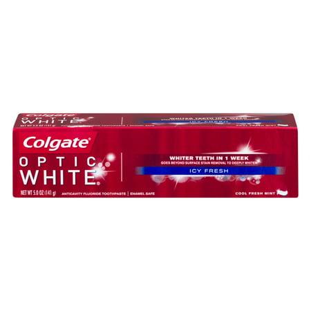 Colgate Optic White Advanced Whitening Toothpaste Icy Fresh - 5oz