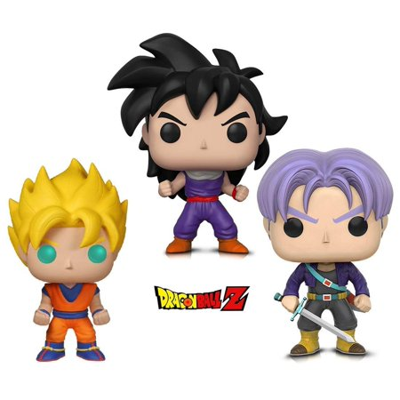 Warp Gadgets Bundle - Funko Pop Animation Dragonball Z - Super Saiyan Goku, Gohan (Training Outfit) & Trunks (3