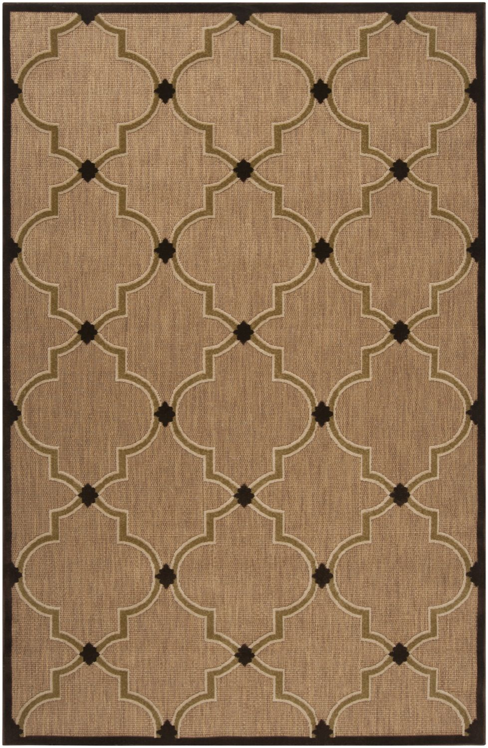 Indoor Outdoor Portera Collection Area Rug In Tan Brown