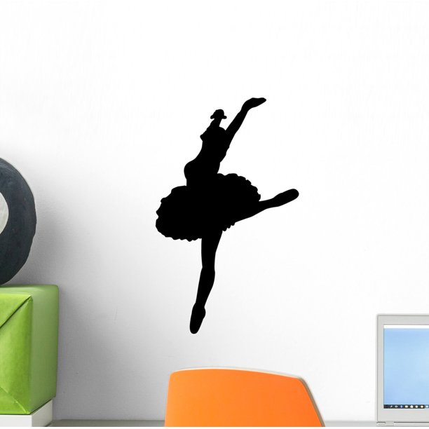 Black Ballet Dancer Silhouette Wall Decal By Wallmonkeys Peel And Stick Graphic 12 In H X 7 In W Wm310879 Walmart Com Walmart Com