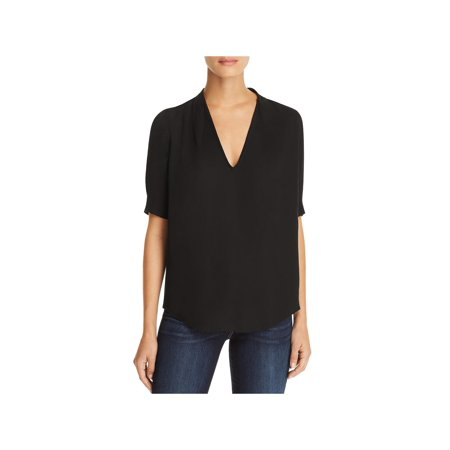 Joie Womens Blouse (Joie Womens Ance Silk Elbow Sleeves Blouse Black S )