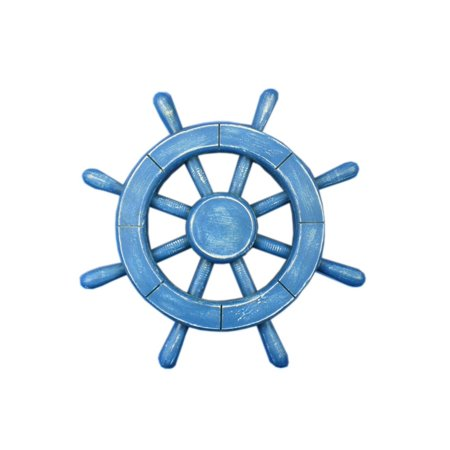 Rustic All Light Blue Ship Wheel 12