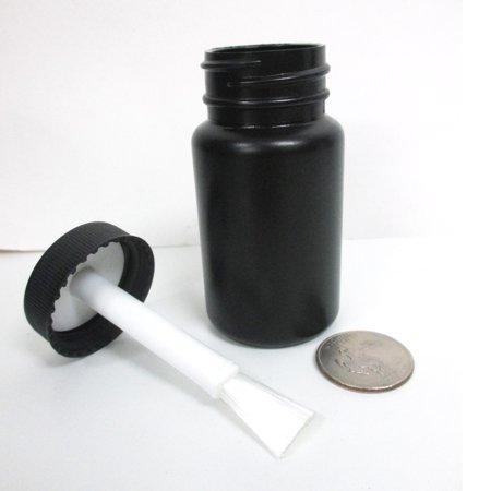 1 Empty Plastic Bottles  Brush Applicator Cap Arts Craft Paint Jar Container 2oz