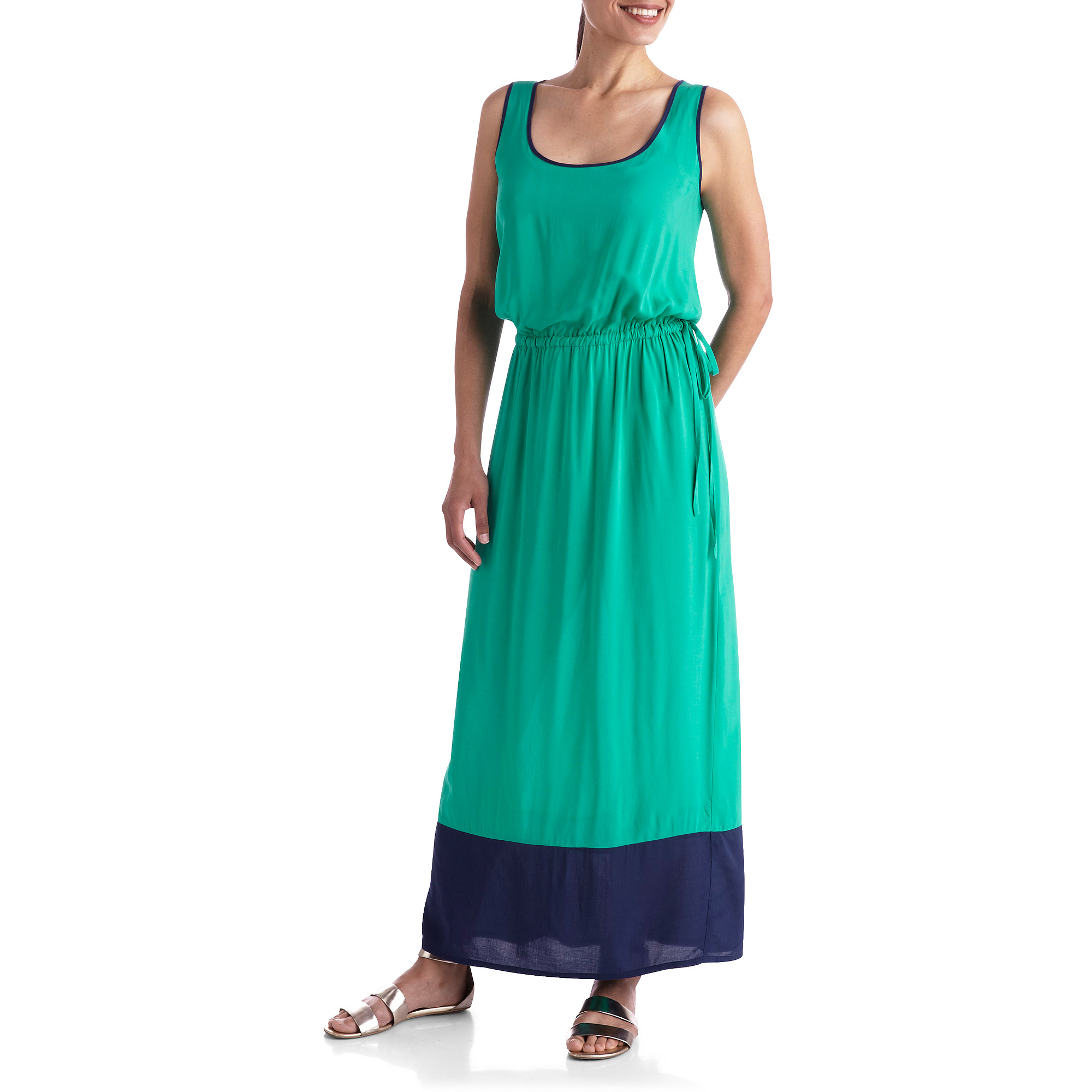 In The Mix Women's Plus-Size Maxi Dress with Ties at Waist