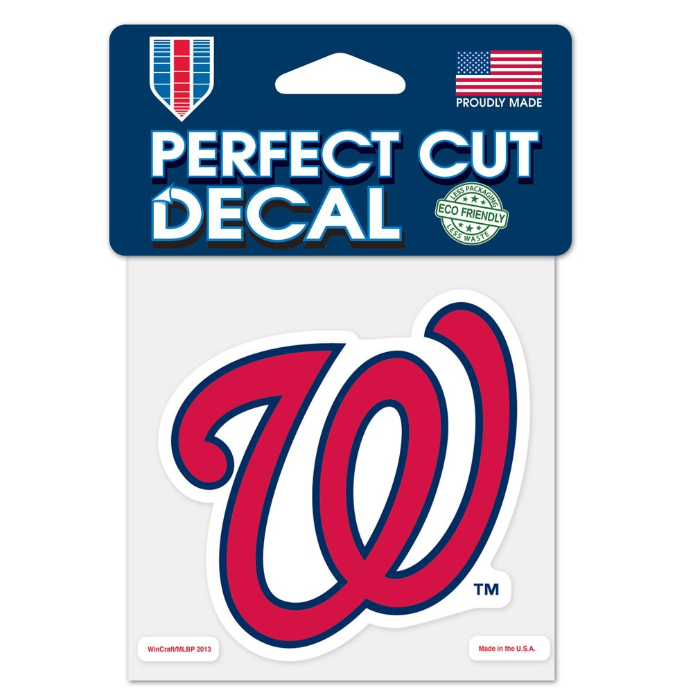 Washington Nationals Official MLB 4 inch x 4 inch  Die Cut Car Decal by Wincraft