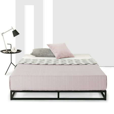 Best Price Mattress 6 Inch Platform Metal Bed Frame with Classic Wooden Slat