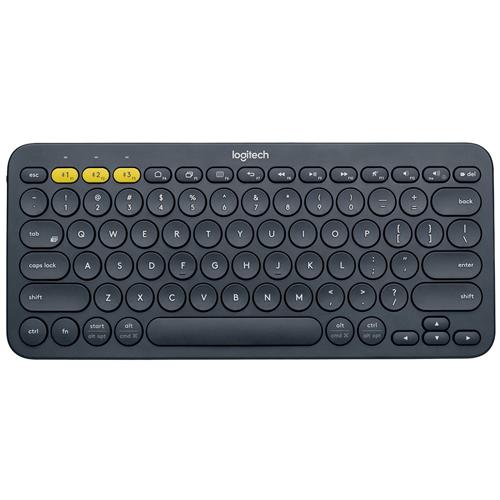 Logitech K380 79-Key Compact Multi-Device Wireless Bluetooth v3 Keyboard - Gray 920-007558X - Refurbished