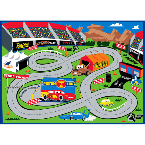 Top Disney - Cars Play Rug - Walmart.com JU56