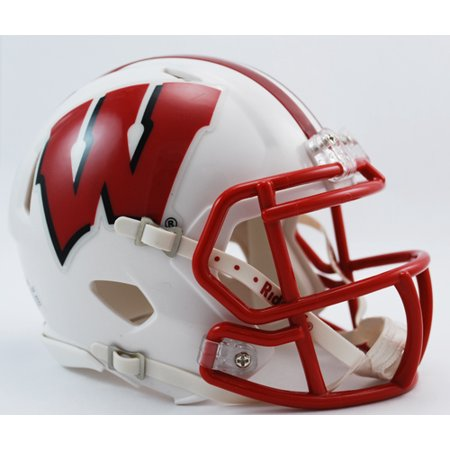 Wisconsin Badgers Speed Mini Helmet (Riddell Wisconsin Badgers Replica Helmet)
