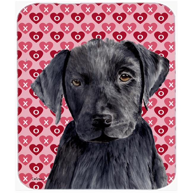 Labrador Yellow Hearts Love And Valentines Day Mouse Pad, Hot Pad Or Trivet