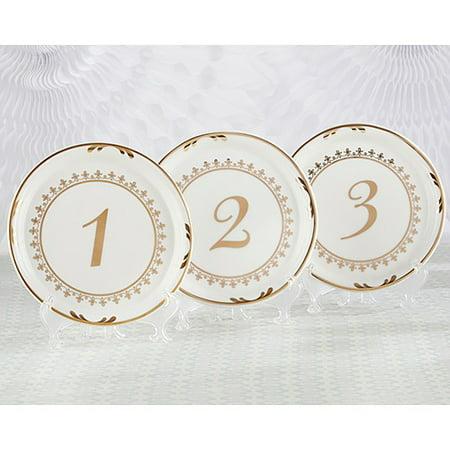 - Tea Time Vintage Plate Table Numbers 1-6