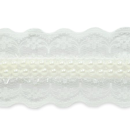 Victorian Pearl (Expo Int'l 5 yards of Mischa Elegant Victorian Pearl Lace Trim 1 1/2