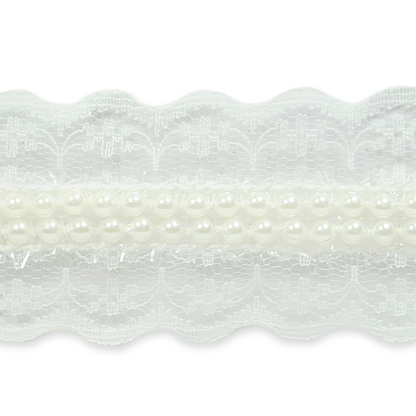 """Expo Int'l 5 yards of Mischa Elegant Victorian Pearl Lace Trim 1 1/2"""""""
