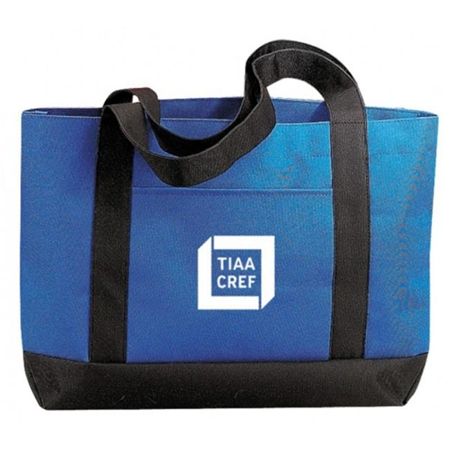 DDI 1902429 Poly Tote Bag, Royal-Black