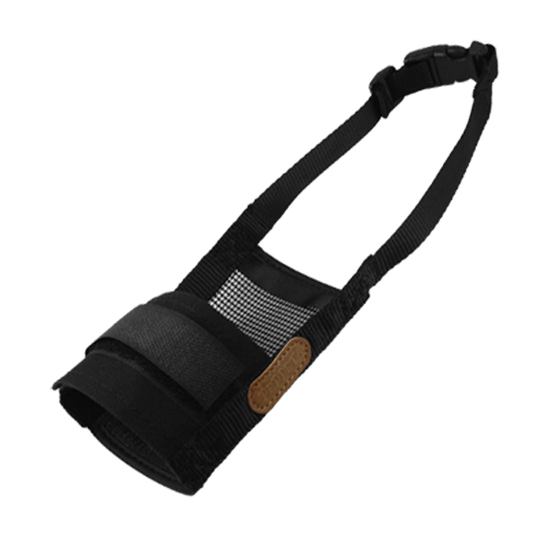 Adjustable Strap Fastener Black Anti Bark Muzzle for Dog Fdpxb