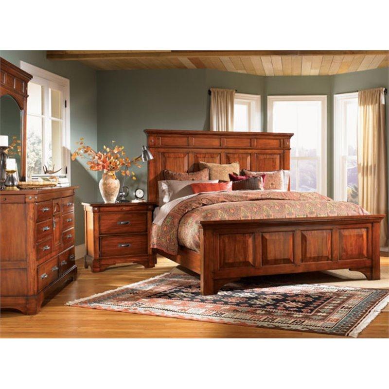A-America Kalispell 4 Piece Queen Bedroom Set in Mahogany