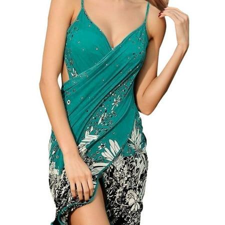 Women's Floral Print Beach Sarong Bath Cover-up Swimwear Pareo Wrap