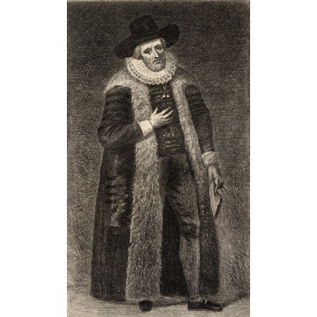 Edward Alleyn 1566-1626 Elizabethan Actor And Founder Of Dulwich College Frontspiece To The Book The Best Plays Of The Old Dramatists Christopher MarloweEtched By E Bocourt Published London 1887