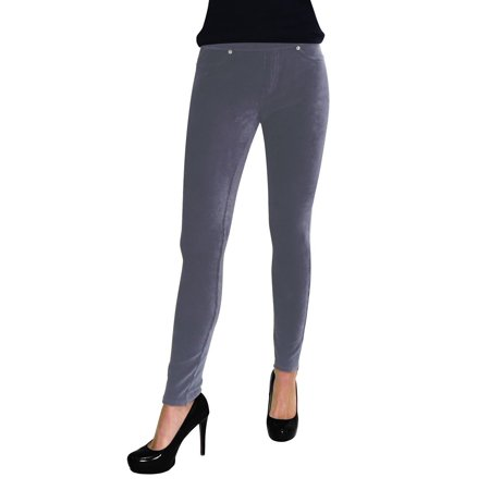 - MeMoi Full Length Premium Thin Ribbed Corduroy Leggings
