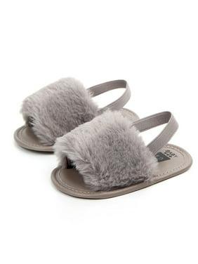 3030c56f8 Product Image Baby Infant Girls Soft Sole Shoes Plush Slide Sandal Summer  Toddler Sandal Princess Non-slip