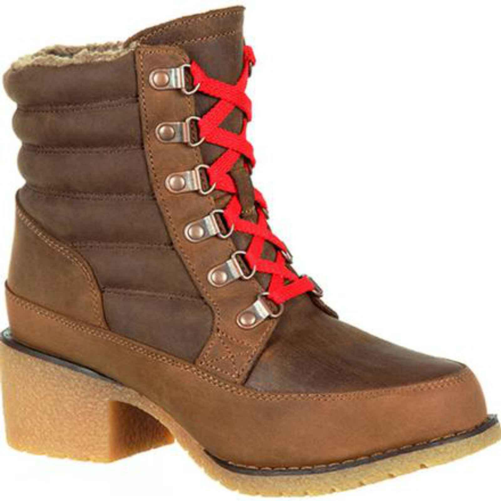 Durango Fashion Boots Womens Cabin Lacer Round Toe Brown DRD0152 by Durango