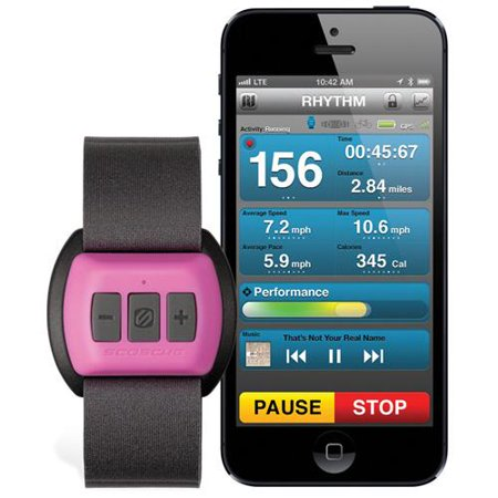 Scosche RHYTHM (Pink) Bluetooth Armband Heart Rate Monitor for Women - Forearm - Pink