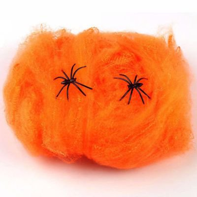 AkoaDa Halloween Spider Cotton Bar KTV Decoration Supplies Ghost Festival Scene Decoration Props Spider Web Spider Silk