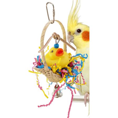 1660 Ducky Basket Bird Toy ()