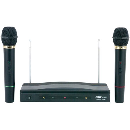 Naxa NAXM984 Professional Dual Wireless Microphone Kit