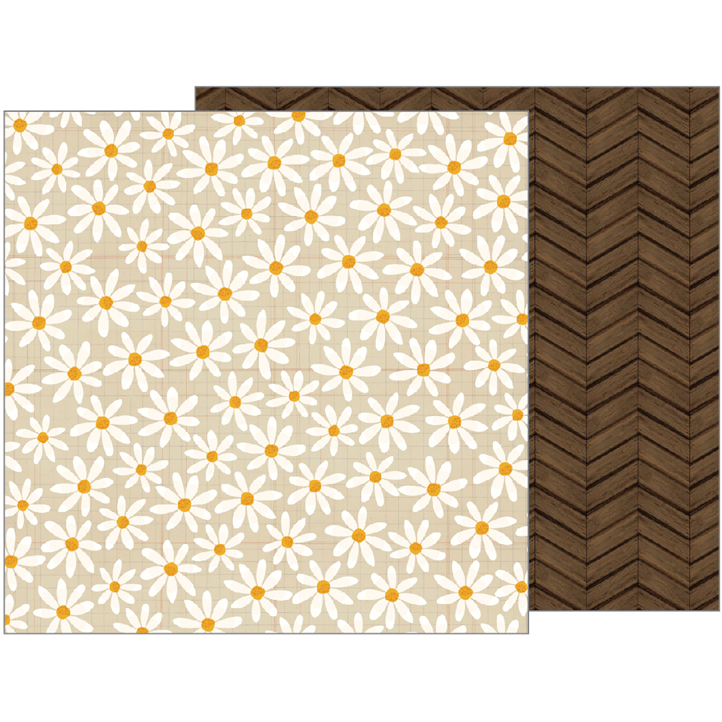 American Craft Pebbles Warm And Cozy Collection 12 X 12 Double Sided Paper Daisy