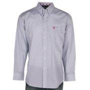 Wrangler Apparel Mens  George Strait  Printed L/S Button Up Shirt M White/Magenta