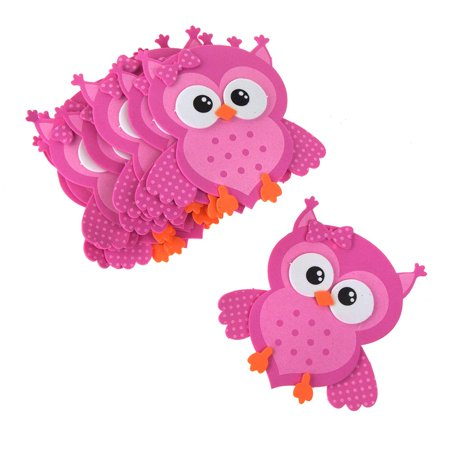 Foam Owl Animal Cutouts, Pink, 4-Inches, 10-count](Owl Cutouts)