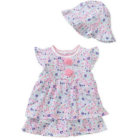 466289a53 Rene Rofe - Newborn Baby Girl Dress   Sunhat