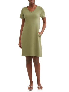 ee76228c Product Image Time and Tru Women's French Terry Dress