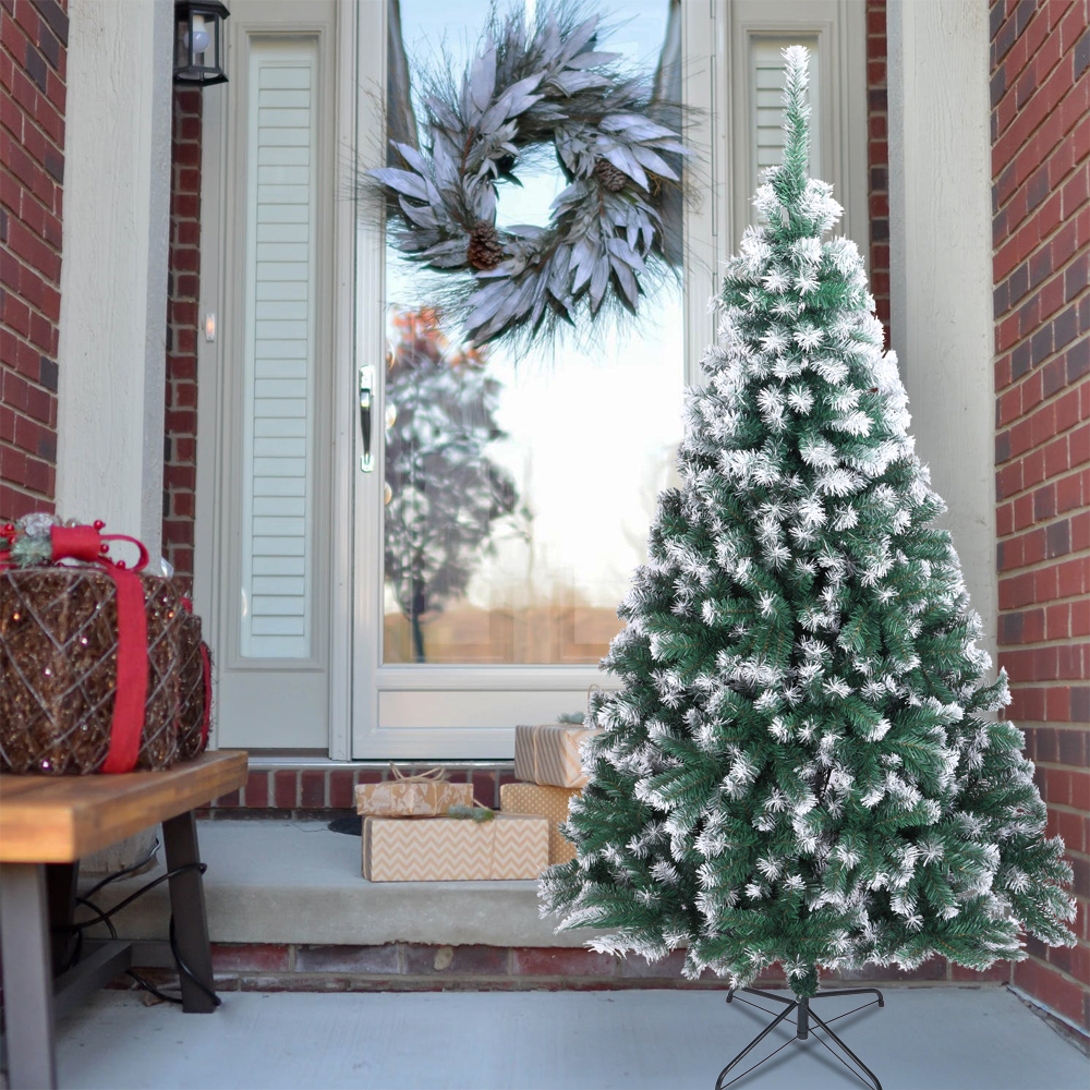 SEGAMRT 7Ft Snow Fir Christmas Trees on Clearance ...