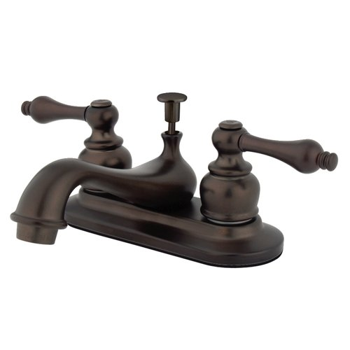 Kingston Brass Restoration Centerset Bathroom Sink Faucet with Pop-Up Drain