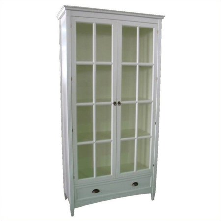 Wayborn Bookcase Glass Door White