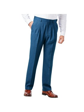 Ks Signature Men's Big & Tall Ks Island Linen Blend Double-pleat Front Dress Pants