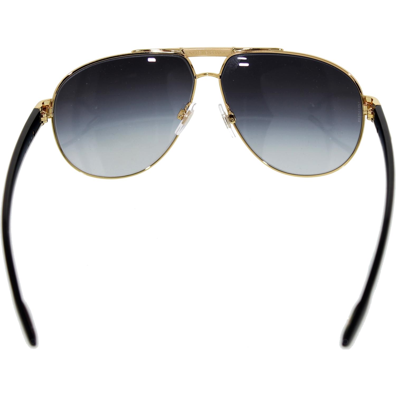 1096a43abf776 Dolce   Gabbana - Men s Gradient DG2099-10818G-61 Gold Aviator Sunglasses -  Walmart.com