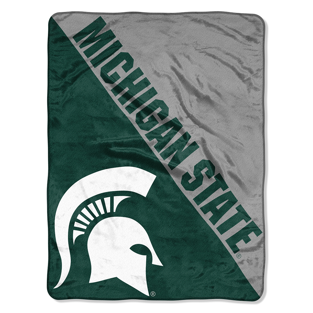 "NCAA Michigan State Spartans ""Halftone"" 46""x 60"" Micro Raschel Throw"