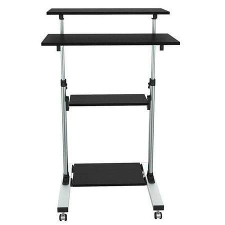 proht 05467 adjustable stand up desk and computer work station black. Black Bedroom Furniture Sets. Home Design Ideas