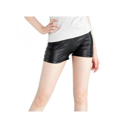 - Lavaport Women Leather Mini Stretch Shorts Tights Hot Pants