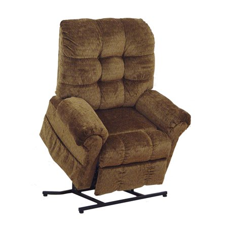 Catnapper Omni 4827 Power Full Lay-Out Large Heavy Duty Lift Chair Recliner 450 lb Capacity - Havana with In-Home Delivery and Setup