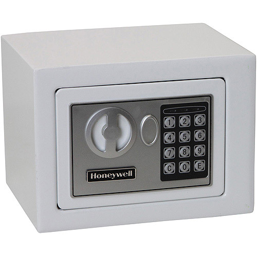 Honeywell 0.17 cu ft Small Security Safe, White