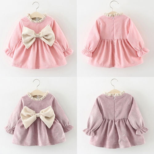 ZEFOTIM Baby Girls Dress,Lace Bowknot/Princess Wedding Formal/Tutu Dress+Headband Set Clothes