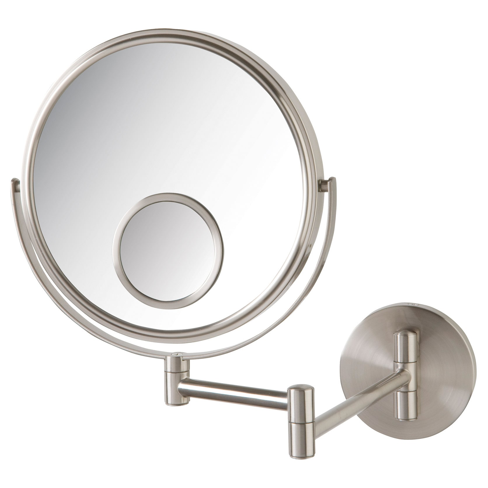 Jerdon Dual Sided Wall Mount Mirror with Spot Mirror Walmart