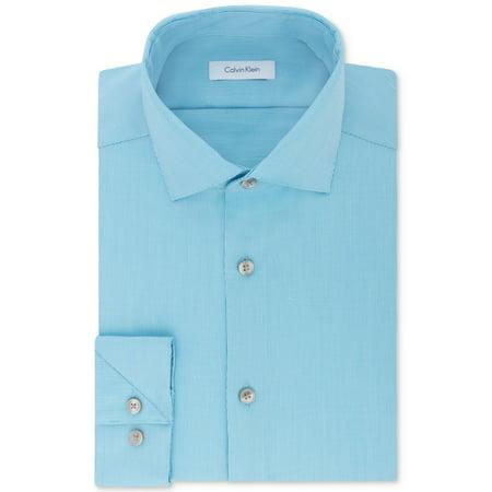Calvin Klein Mens Non-Iron Stretch Button Up Dress Shirt Stretch Dress Skirt