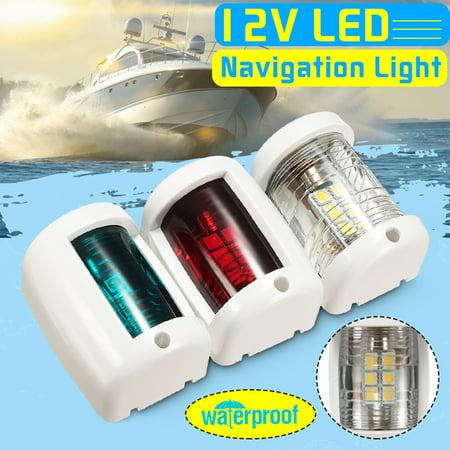 3Pcs/set  12V LED Marine Boat Ship Navigation Light Starboard/Port/Masthead/Stern