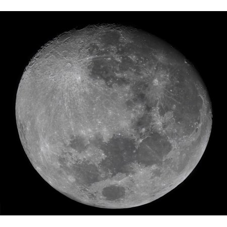 The waxing gibbous moon in a high resolution mosaic, Buenos Aires, Argentina Poster Print